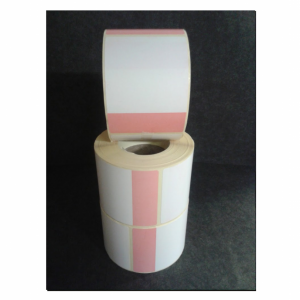 Thermal Scale Label Roll 58x80 White with RED BASE