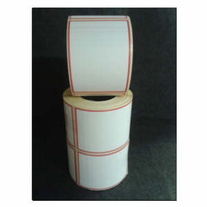 Thermal Scale Label Roll 58x80mm White with RED BORDER