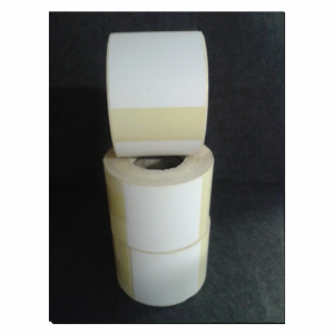 Thermal Scale Label Roll 58x80 White with YELLOW BASE