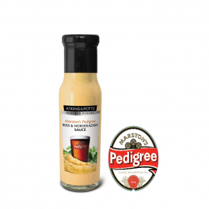 Atkins & Potts Manstons Pedigree Beer and Horseradish Table Sauce 6x230g