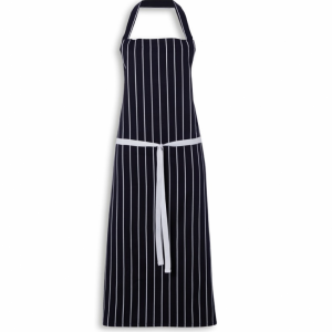 Butchers Apron Cotton Navy Blue White Stripe 40x29 inch