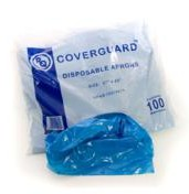 "Disposable Aprons Blue 27 X 42"" (100 per pack)"