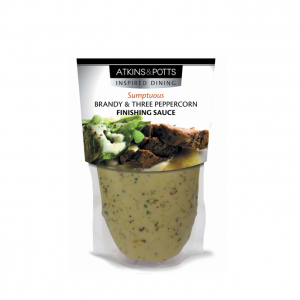 Atkins & Potts Brandy and Three Peppercorn Sauce 6x350g
