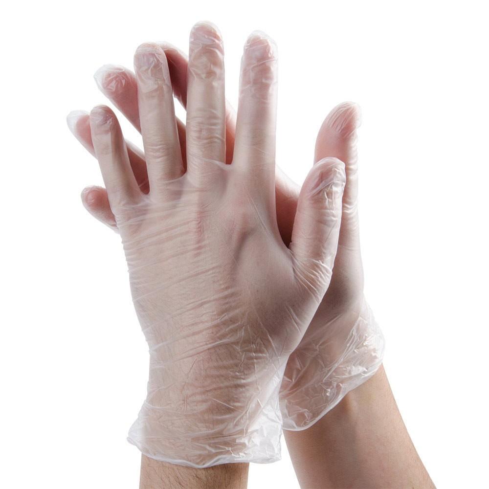 Clear Vinyl Powder Free Medium Gloves Per Box 100