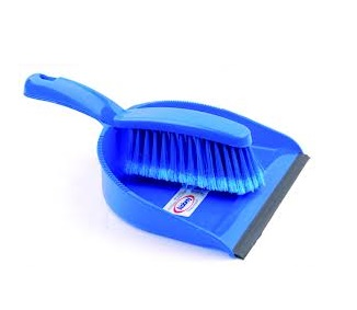 Dustpan and Brush Set Blue