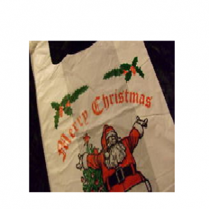 CHRISTMAS CARRIER BAG Approx 12x18x23 20 Micron per 100