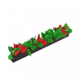 Garnish BLACK base Red Green Leaf Per Pack 12
