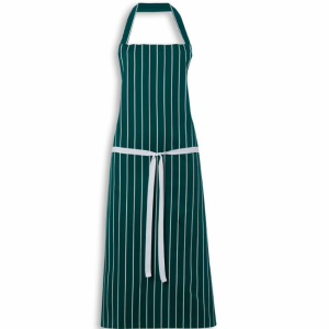 Butchers Apron Cotton Navy Green White Stripe 90cm