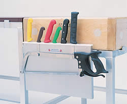 Knife Rack Stainless Steel with Saw Hooks (Fixing Brackets Sold Separately)