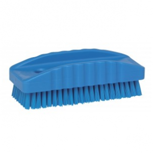 Nail Brush Blue Plastic Handle