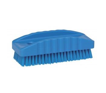 Nail Brush Blue Plastic Handle
