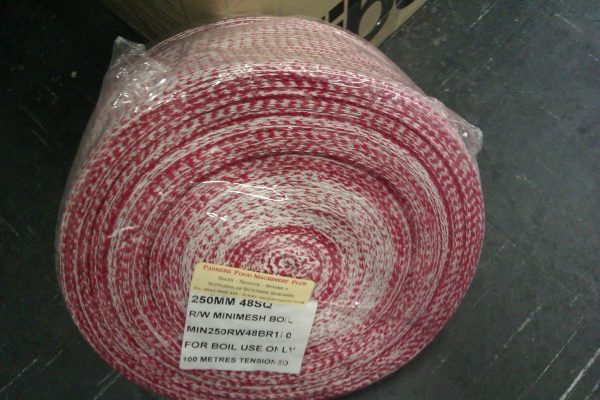 "Netting Boilable Red White 10"" (250mm x 100meters)"