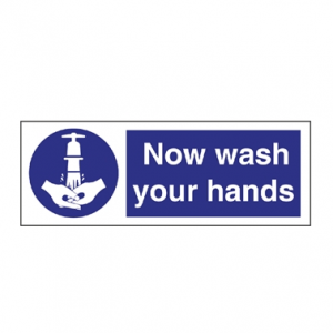 Wash Your Hands Notice Sticker 90x230mm