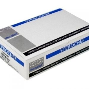 Blue Plasters Steroplast Sterochef 7.5 x 2.5 Detectable (per box 100)