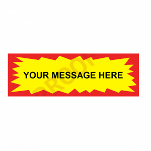 Personalised Promotional Stickers Starburst Rectangle Per Roll 500