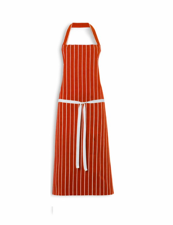 Butchers Apron Cotton Red White Stripe 40x29 inch