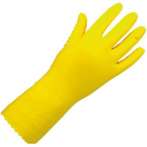 Rubber Gloves 12pk YELLOW