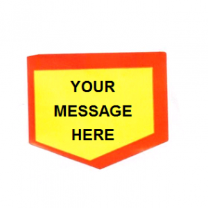 Personalised Promotional Stickers Starburst Shield Per Roll 500
