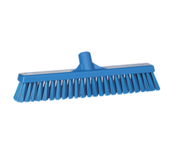 Broom Head Stiff Front & Soft Back Blue 420mm