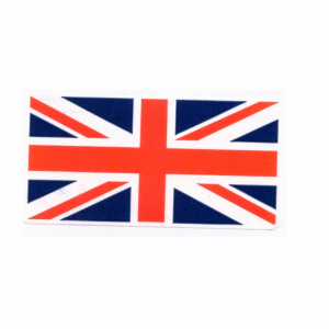 UNION JACK STICKERS 51X25MM PER ROLL 1000