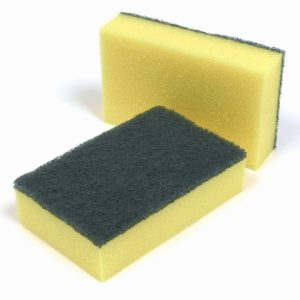 Sponge Backed Scourers pack 10