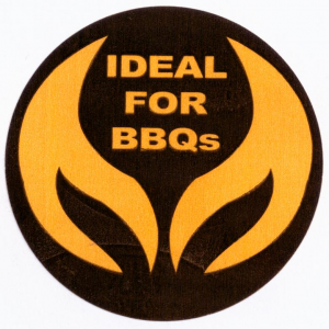 Ideal For BBQ Stickers Round Per Roll 500