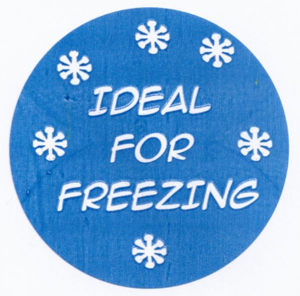 Ideal For Freezing Stickers Round Per Roll 500