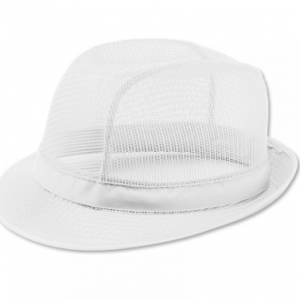 Butchers White Trilby Hat Large
