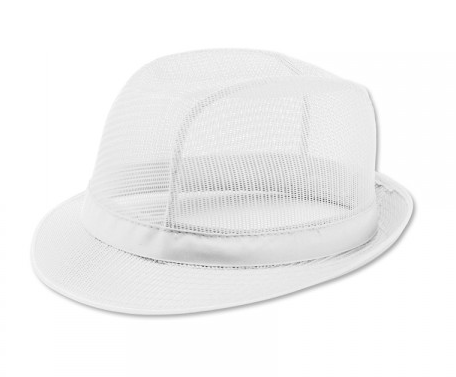 Butchers White Trilby Hat Medium