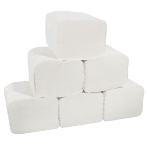 Toilet Tissue SQUARES White (36 packs of 250 Sheets)