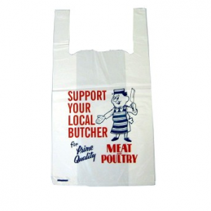 SUPPORT YOUR LOCAL BUTCHER Carrier Bags Approx 11x16x19 per 2000