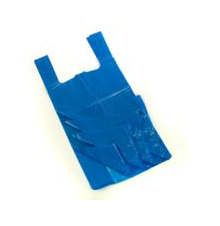 Vest Carrier Bag Blue Approx 11x17x21 18 Micron per 1000