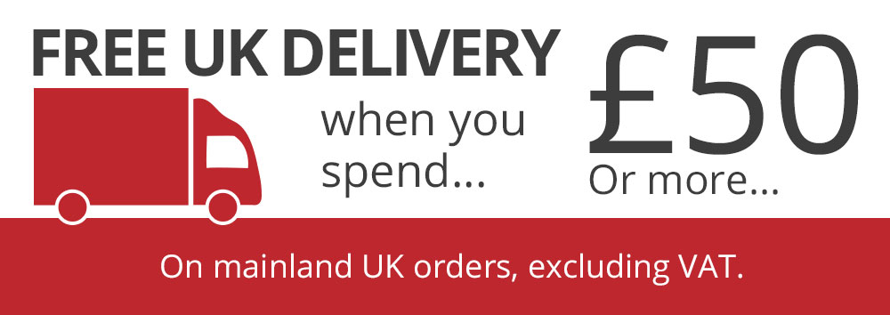 Free Delivery on orders over £50 to UK mainland