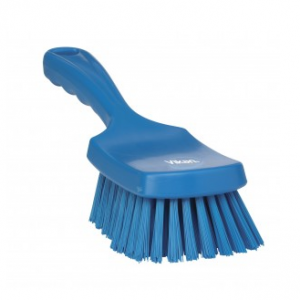 Scrubbing Brush With Upright Handle Blue